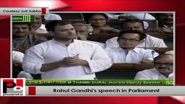 Rahul Gandhi's speech in Parliament Part 7