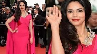Mallika Sherawat Hot At Cannes 2015 Red Carpet