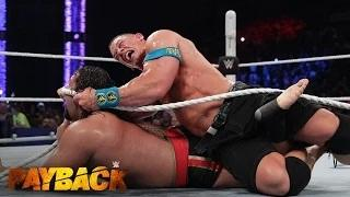 WWE Network: Lana puts an end to the 'I Quit' Match between John Cena and Rusev: WWE Payback 2015