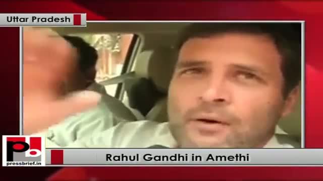 Rahul Gandhi talks to media in Amethi, Uttar Pradesh 18th May 2015 mp4
