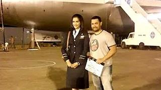 Aamir Khan Visits Sonam Kapoor On 'Neerja Bhanot' Sets