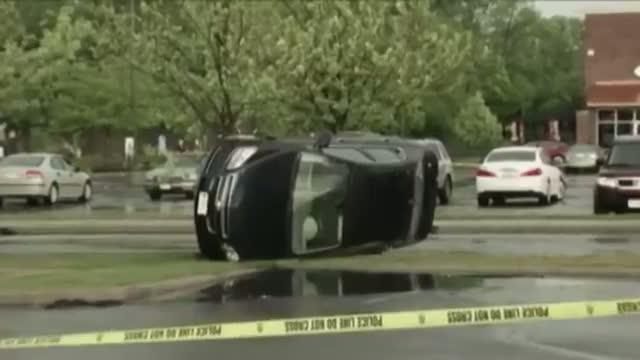 Storm Flips Cars in SW Ohio