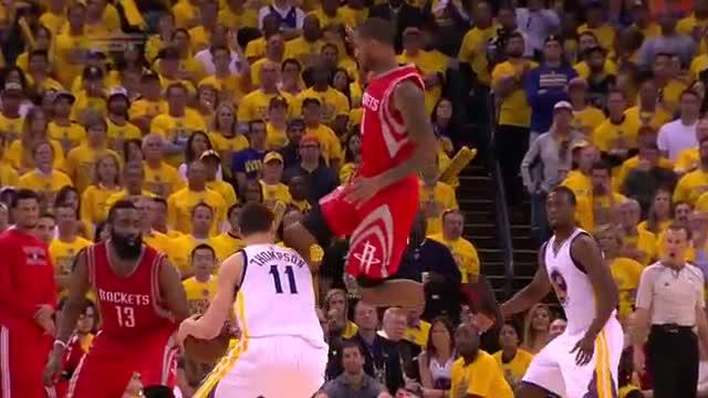 Trevor Ariza Knees Klay Thompson | Rockets vs Warriors | Game 5 | May 27, 2015 | 2015 NBA Playoffs