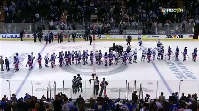 Rangers, Lightning shake hands after Game 7