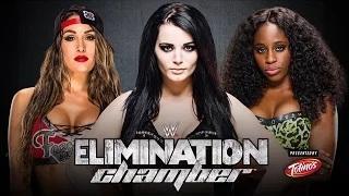 Paige vs. Naomi vs. Nikki Bella - WWE Divas Championship - Elimination Chamber WWE 2K15 Simulation