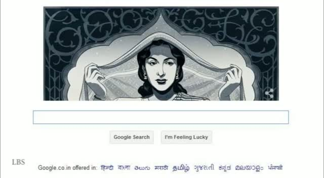 Nargis Google Doodle - Nargis' 86th Birthday