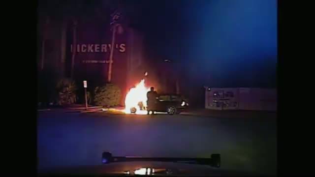 Officer Saves Man In Burning Car