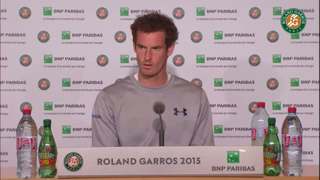 Press conference Andy Murray 2015 French Open / Quarterfinals 2