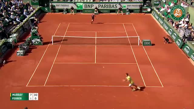 A. Murray v. D. Ferrer 2015 French Open Men's Highlights / Quarterfinals