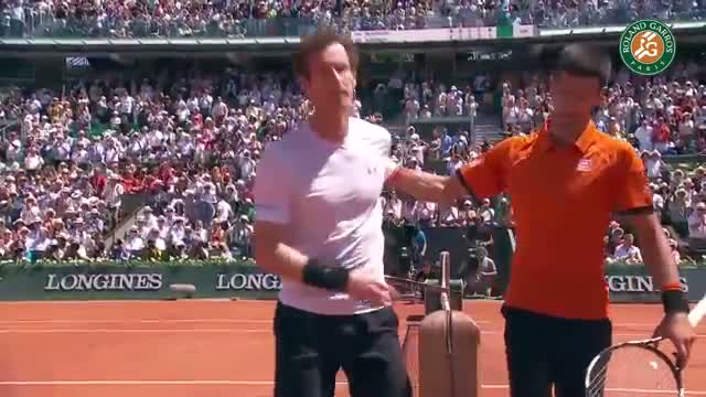 Novak Djokovic's match point against Andy Murray - 2015 French Open