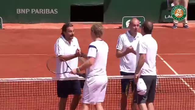 Leconte and Forget Perrier Legends Trophy victory - 2015 French Open
