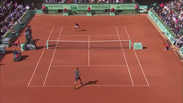 The score is right with Novak Djokovic / 2015 French Open