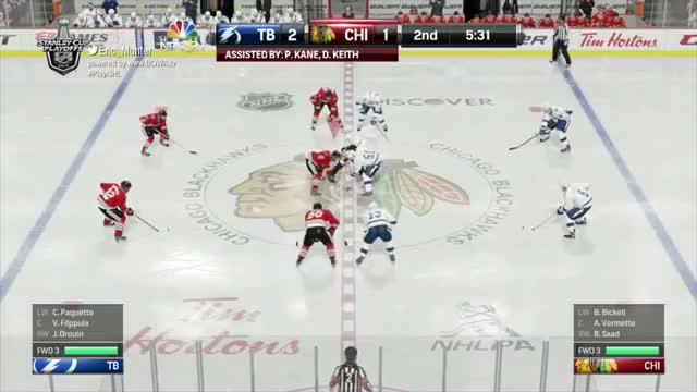 Lightning vs Blackhawks - Stanley Cup Finals Game 3 (Play NHL 15)