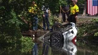 Framingham car crash: woman survives after car submerged in pond overnight