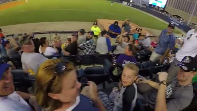 Barehanded baseball line drive catch ( ORIGINAL )