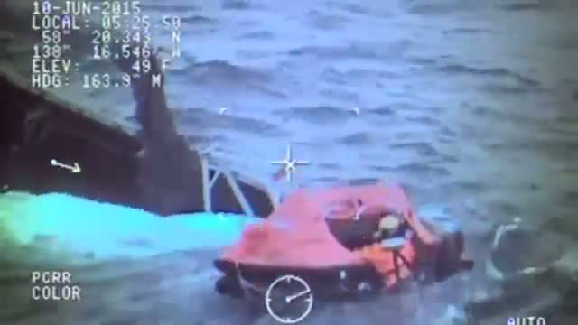 Coast Guard Rescues Crew From Sinking Ship