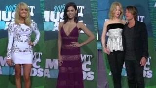 Celebrities Arrive At The 2015 CMT Music Awards- Carrie Underwood, Keith Urban And More