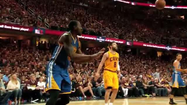 NBA Finals Phantom Raw: Andre Iguodala's Fast Break Smash
