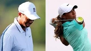 Tiger Woods Stumbles While Cheyenne Woods Soars