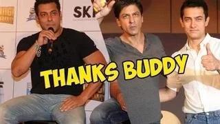 Salman Khan thanks Shahrukh Khan & Aamir Khan for promoting Bajrangi Bhaijaan
