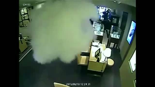 Surveillance Video Captures Jewelry Heist