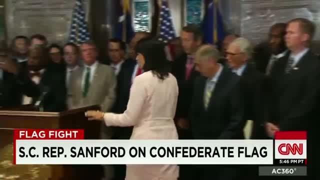 S.C. Rep. Sanford responds to Confederate flag controversy