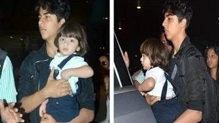 SRK's Son Aryan CARRIES AbRam In His Arms