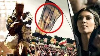 Kim Kardashian 'S*X Tape' Flag During Kanye's Performance