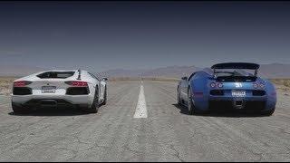 Bugatti Veyron vs Lamborghini Aventador vs Lexus LFA vs McLaren MP4-12C - Head 2 Head