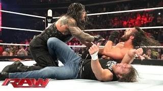 Roman Reigns & Dean Ambrose vs. Kane & Seth Rollins - No Disqualification Tag Team Match: WWE Raw, June 29 2015