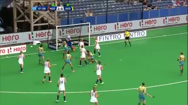 Netherlands v Australia Match Highlights - Antwerp Women's HWL (2015)