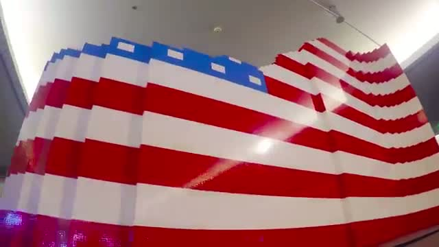Time Lapse of Largest-Ever LEGO American Flag – Smithsonian National Museum of American History