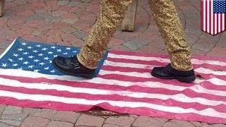 Free speech? Teacher stomps US flag in class exercise, fired by Illinois school board