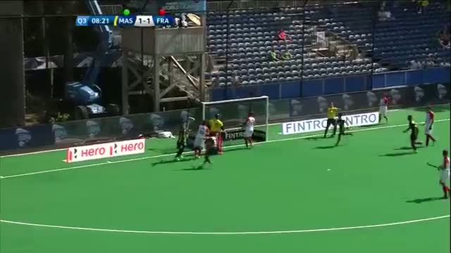 Malaysia v France Match Highlights - Antwerp Men's HWL (2015)