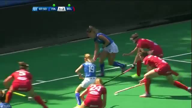Italy v Belgium Match Highlights - Antwerp Women's HWL 2015