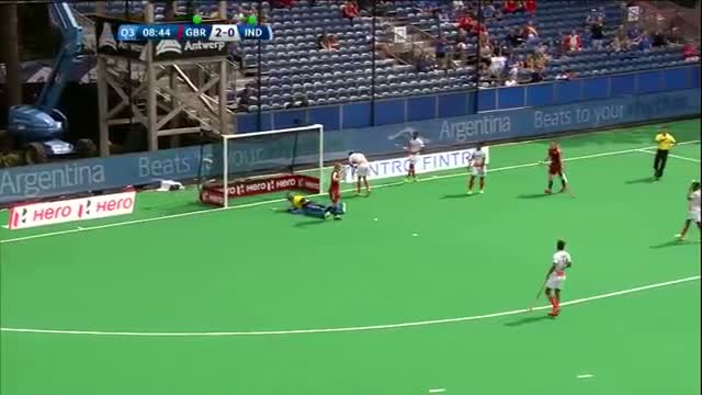 Great Britain v India Match Highlights - Antwerp Men's HWL (2015)