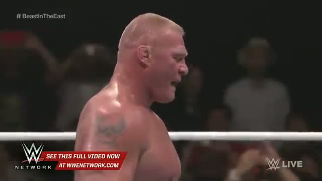 Kofi Kingston vs. Brock Lesnar: Brock Lesnar: The Beast in the East, July 4, 2015