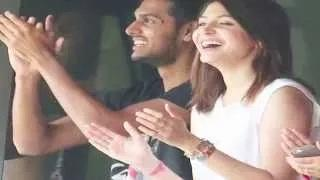 Anushka Sharma & Virat Kohli Supports Sania Mirza At Wimbledon 2015