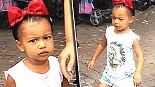 North West's Funny Face During Disneyland Visit
