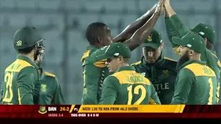 Kagiso Rabada picks up Tamim Iqbal and Liton Das - Ban vs SA 2nd ODI 2015