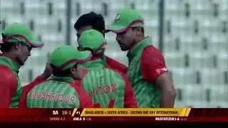 Mustafizur Rahman was the pick of the bowlers.. 3/38 in 10 overs - Ban vs SA 2nd ODI 2015