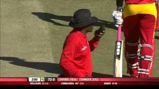 Chamu Chibhabha contributes useful 72 runs for his team - Zim vs Ind 2nd ODI 2015