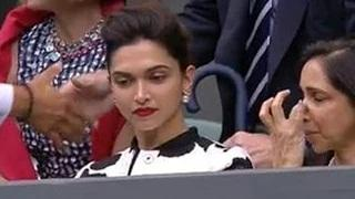 Deepika Padukone Cheers FEDERER DJOKOVIC Match At Wimbledon
