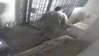 CCTV: Moment Mexican drug lord El Chapo Guzman escapes from his prison cell