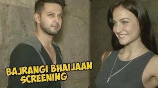 Salman Khan's Bajrangi Bhaijaan Movie Screening | Elli Avram, Salim Khan, Sohail Khan