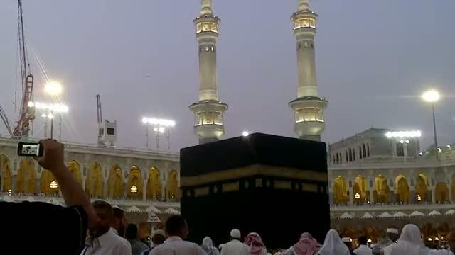 Azaan In Kaba Sharif View From Bottom Floor - Eid Mubarak