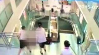 Woman dies after being 'swallowed' by escalator in China