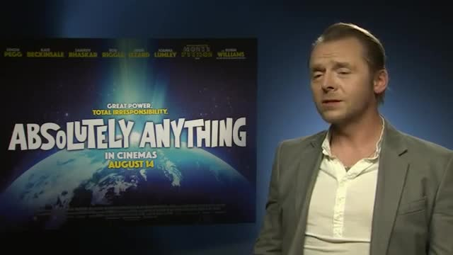 Pegg on Robin Williams' 'swan Song'
