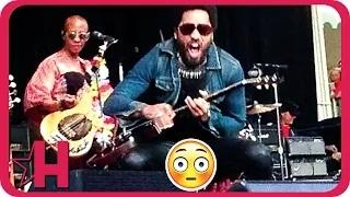 Lenny Kravitz Rocks Out With His C*ck Out!