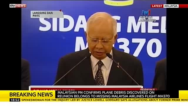 MH370 debris confirmed: Malaysia PM Confirms Plane Debris Belongs To MH370